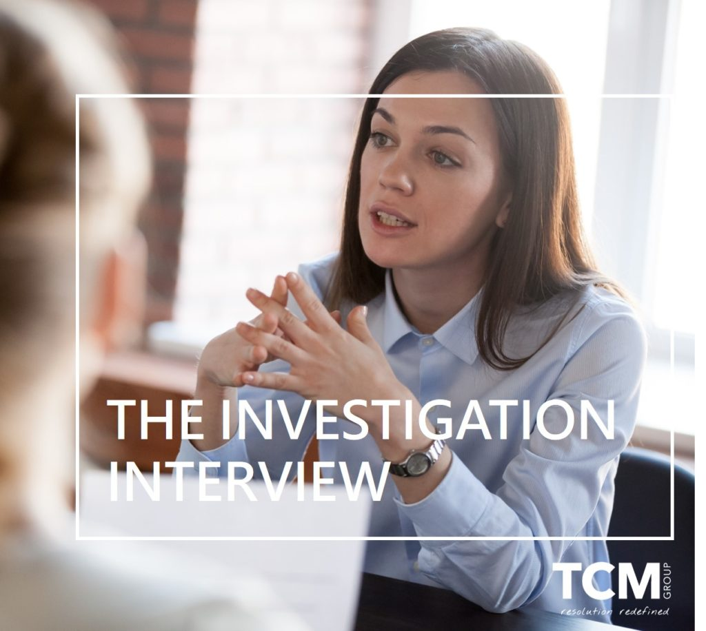 The investigation interview